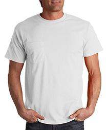 Fruit Of The Loom Adult Heavy Cotton Pocket T-Shirt, Wht,