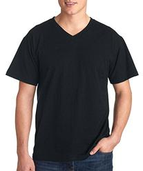 Fruit Of The Loom Adult Heavy Cotton Hd V-Neck T-Shirt, Blk