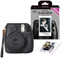 1 X Fuji Instax Mini 8 N Black + Original Strap Set Fujifilm
