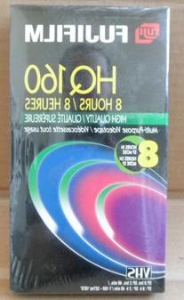 Fujifilm HQ160 High Quality VHS Video Cassette Tape - 8 hour