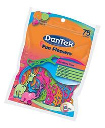 DenTek Fun Flossers for Kids, Wild Fruit Floss Picks,Easy