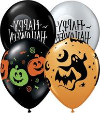 "Qualatex Fun and Spooky Halloween Assortment, 11"" Round"