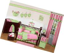 Sweet Jojo Designs Funky Pink and Lime Green Olivia Boutique