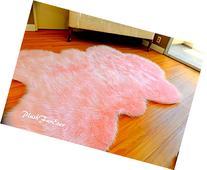 Fur Decors Nursery Room Area Sheepskin Rug Baby Girl Accents