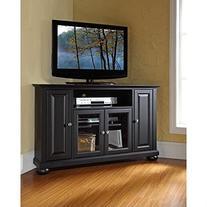 Crosley Furniture Alexandria 48-Inch Corner TV Stand, Black