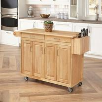 Home Styles Furniture Kitchen Cart with Breakfast Bar in