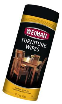 Weiman Wood Cleaner and Polish Wipes - Non Toxic For