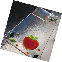 Fused Glass Apple and Honey Dish, Rosh Hashanah Platter,