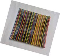 Fused Glass Handmade Decorative Plate - Colorful Rods on