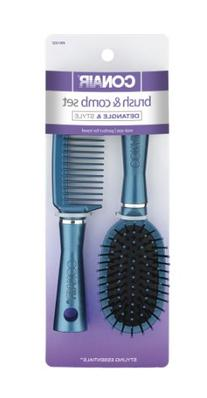 Conair Fusion Hair Brush and Comb, Cushion, Mid-Size, Colors