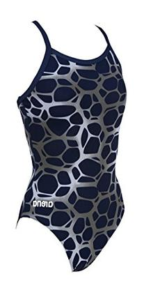 Girl's G polycarbonite jr one piece, Navy/Multicolor, 26