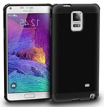 rooCASE Galaxy Note 4 Case, Slim Fit  Hybrid PC / TPU Armor