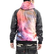Generic Men's Galaxy Cosmic Universe Digital Print Leather