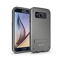 Galaxy S6 Case,S6 stand Case, iThrough TPU Stand Function