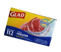 Glad Gallon Freezer Zipper Bags 4 Pack of 28 Each Total 112