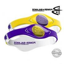 Power Balance Game Day bracelet wristband Purple and Yellow