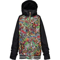 Burton Boy's Game Day Jacket, Marvel/True Black, X-Large