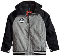 Burton Boy's Game Day Jacket, True Black/Heather Gray, X-