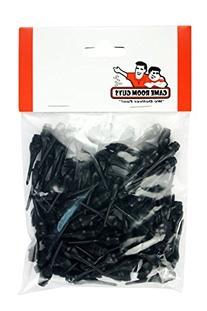 Set of 100 Black Dart Tips Soft - 1/4