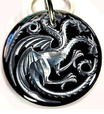 Game of Thrones Pet ID Tag Dog Tag targaryen dragon