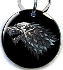 Game of Thrones Stark Direwolf Pet id tags