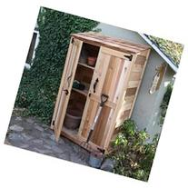 Garden Chalet Wood Lean-To Shed, 3.8' x 2