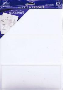 Gartner Studios Program Paper - Pearl White Border - 50