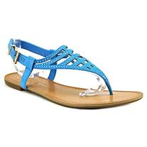 Jessica Simpson Women's Garvey Dress Sandal, Electric Blue,