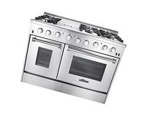 Thor Kitchen Gas Range with 6 Burners and Double Ovens,