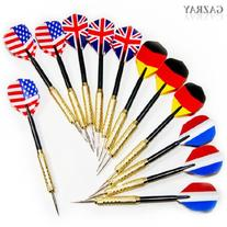 Copper Steel Needle Tip Dart Darts With National Flag Flight