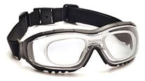 Pyramex V3G Safety Goggles, Black Strap/Temples/Clear Anti-