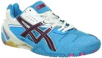 ASICS Women's GEL-Blast 5 Shoe,Ocean Blue/Black/White,9.5 M