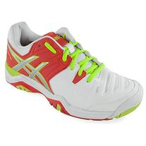 ASICS Women's Gel-Challenger 10 Tennis Shoe,White/Hot Coral/
