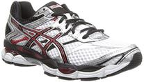 ASICS Men's Gel-Cumulus 16 Running Shoe,White/Black/Red,12 M