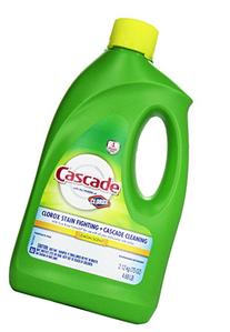 Cascade Gel Dishwasher Detergent, Lemon, 75 oz