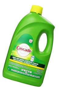 Cascade Gel Dishwasher Detergent Lemon Scent, 155 Oz