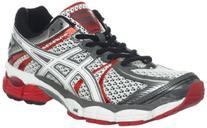 ASICS Men's GEL-Flux Running Shoe,Snow/White/Red Pepper,8 M