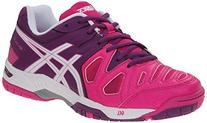 ASICS Women's Gel Game 5 Tennis Shoe, Pink Glow/White/Grape