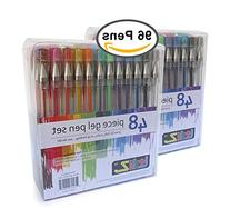 LolliZ Gel Pens | 96 Gel Pen Set - 2 Packs of 48 pens each