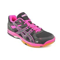 ASICS Women's GEL-Rocket 6 Volleyball Shoe,Pink/Silver/Black