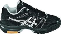 ASICS Women's Gel Rocket 7 Volley Ball Shoe,Black/Silver,7.5