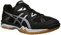 ASICS Men's Gel-Tactic Volleyball Shoe, Black/Onyx/Silver,