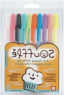 Gelly Roll Souffle Opaque Puffy Ink Pens 10/Pkg-Assorted