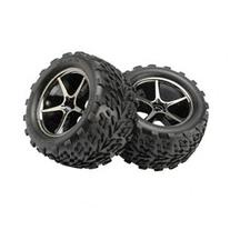 Gemini Blk Chrome Wheels, Talon Tires: 1/16 ERV