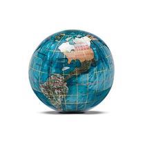 """KALIFANO 3"""" Gemstone Globe Paperweight with Bahama Blue"""
