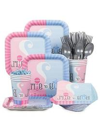 Baby Gender Reveal Partyware Kit, Blue & Pink, Includes 20