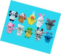 Generic Soft Plush Animal Finger Puppet Set