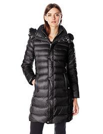 Women's Andrew Marc Genuine Fox Fur Trim Down Coat, Size