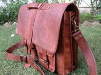 Genuine Men's Auth Real Leather Messenger Laptop Briefcase