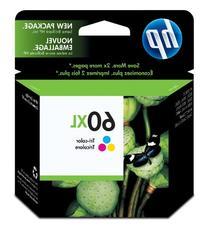 Genuine HP OEM   60XL   Ink Cartridge, Cyan/Magenta/Yellow